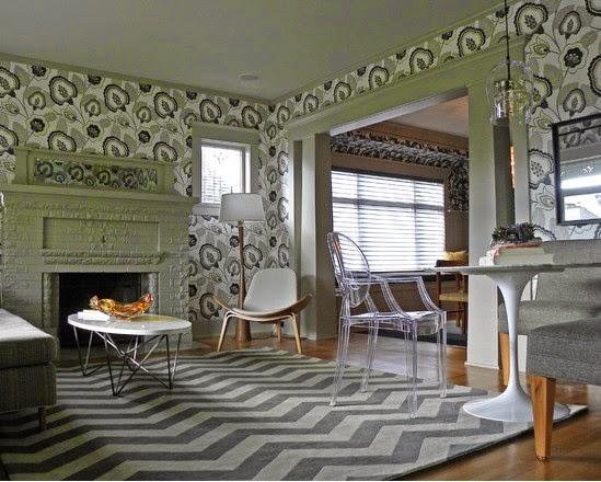 gambar wallpaper dinding ruang tamu
