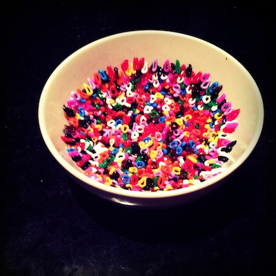 Making a Hama Beads bowl 2