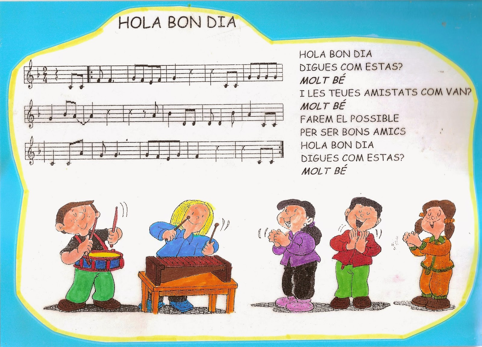 Cantores infantiles hola bon dia digues com est s for Cancion infantil hola jardin