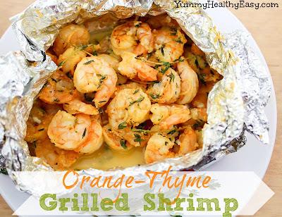Shrimp grilled in tin foil packets