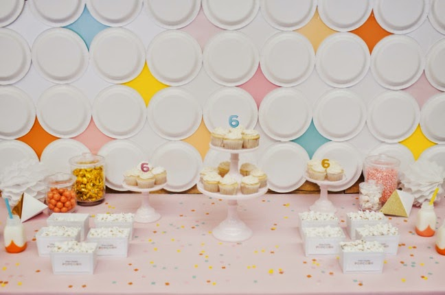 Retro Modern Dessert Table for a 6th Birthday Party | Shauna Younge (pic: Sydnee Bickett)