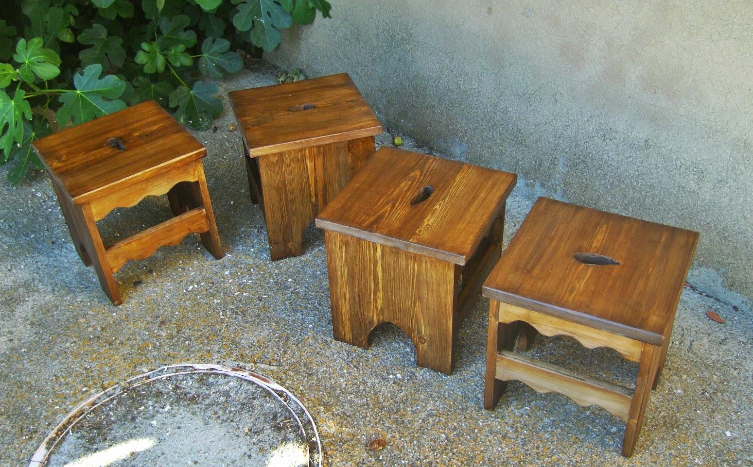 Taburetes de madera - Taburetes rusticos ...