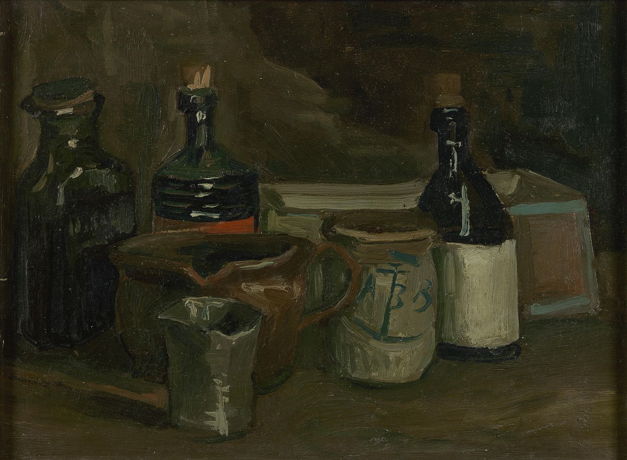 Still Life with Bottles and Earthenware (F 61r, JH 533) by Vincent van Gogh