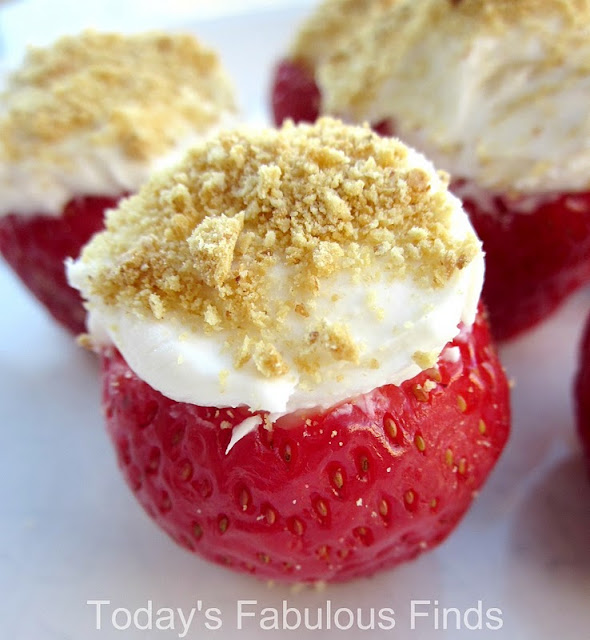 ... Fabulous Finds: Cream Cheese Stuffed Strawberries and Thank You's