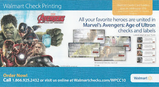 Marvel's Avengers: Age of Ultron Checks and Labels flyer at Walmart