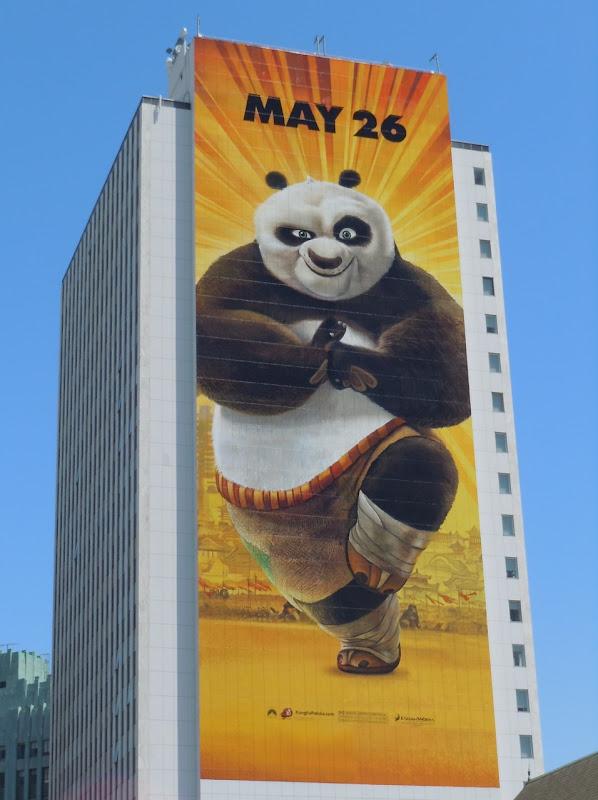 Giant Kung Fu Panda billboard LA