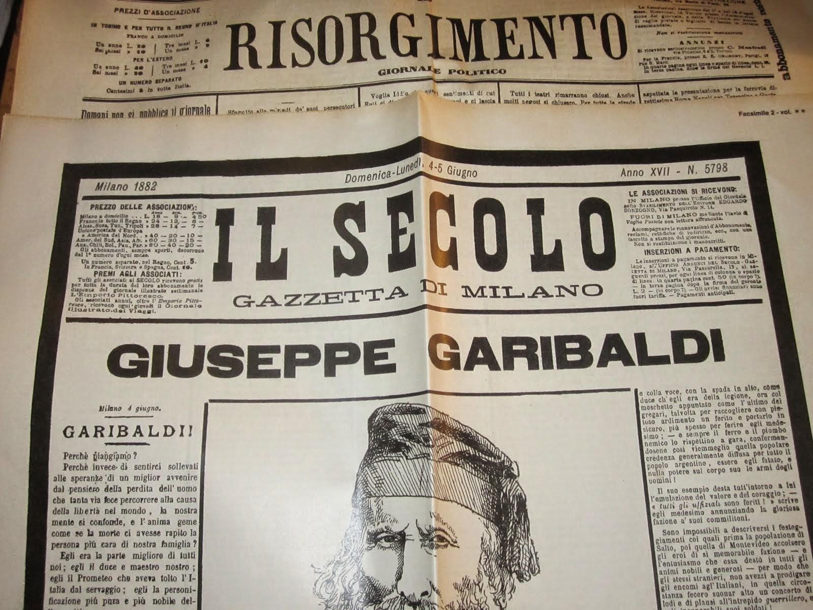 Giornali.. (Garibaldi!)