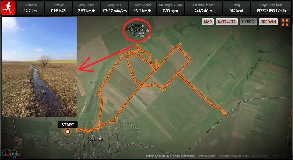 Cum am mai bătut câmpii. Fortificaţia de la Corneşti - Harta - Poza