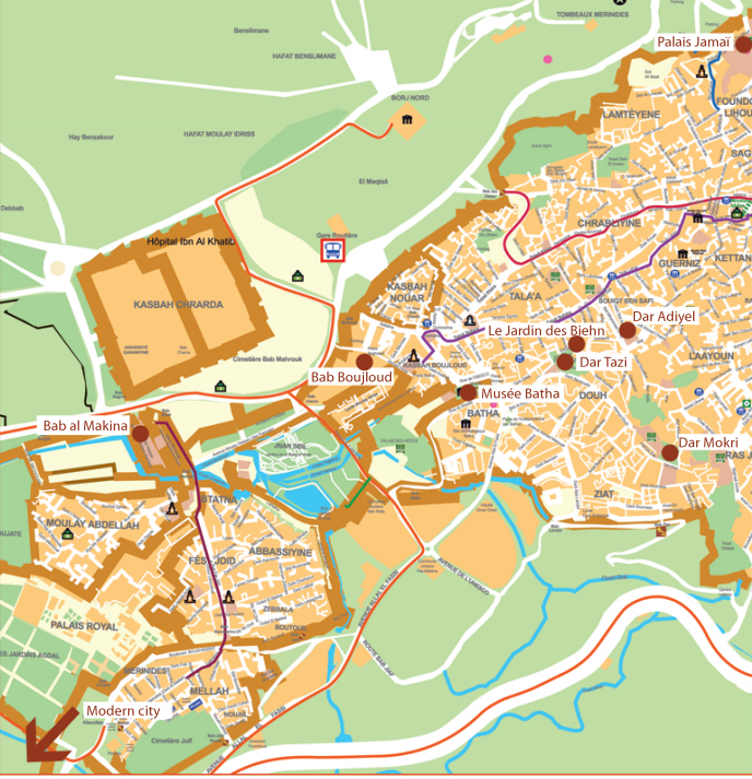 THE VIEW FROM FEZ: Fes Festival Venues and Medina Map