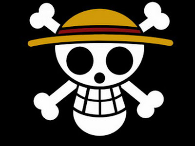 Bendera Bajak Laut Topi Jerami Hitam (Mugiwara Kaizokou)