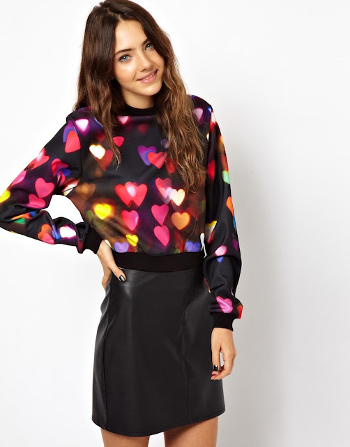 heart print jumper
