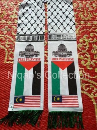 mafla sokong palestin, niqabs collection, tudung labuh online, purdah online