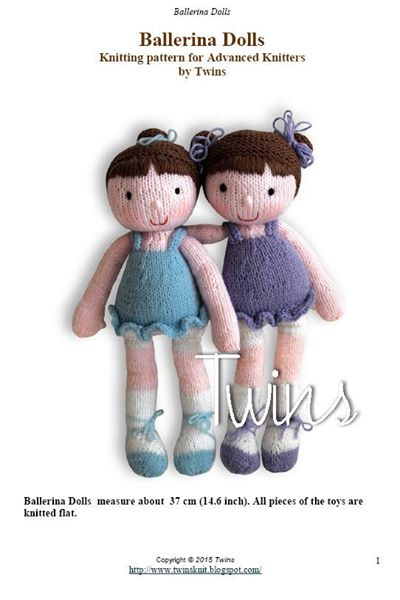 Twins Knitting Pattern Minishop Ballerina The Knitted Doll