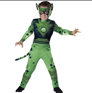 green wild kratts costume