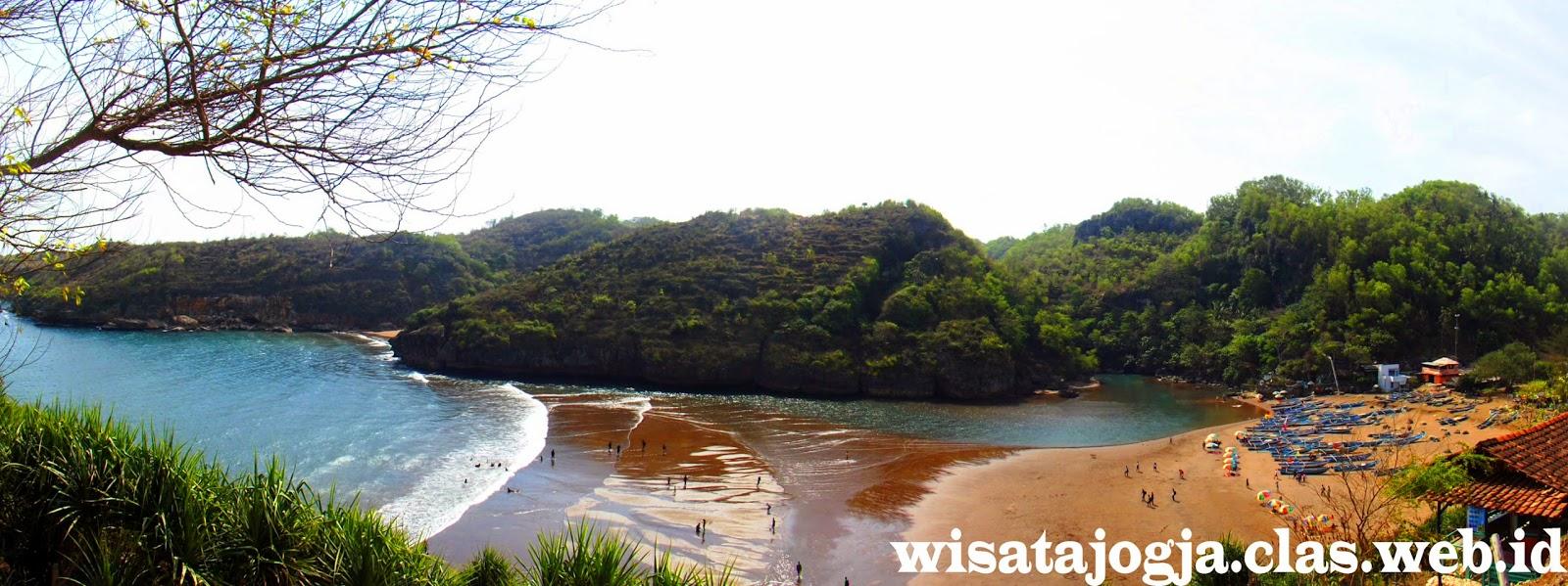 Wisata Pantai eksotis pantai Baron  di gunungkidul Yogyakarta selain pantai indrayant } iPantai Baron | wisata pantai yogyakarta |