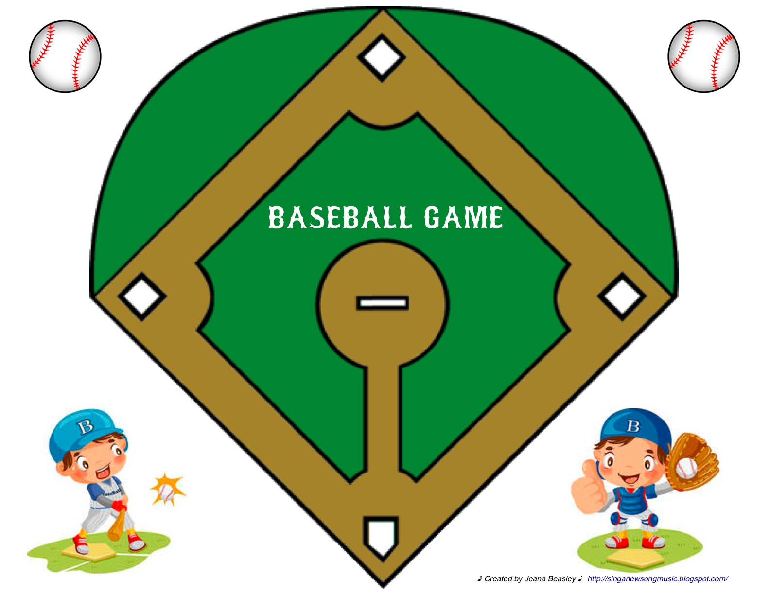 Clever image intended for printable baseball field