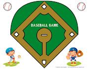 I use a printable baseball field as the game board, though you could just .