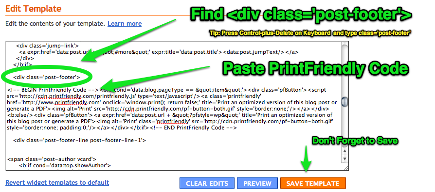 Find Div Classpost Footer In Template Code Tip Press Control Plus F On Keyboard To Search For