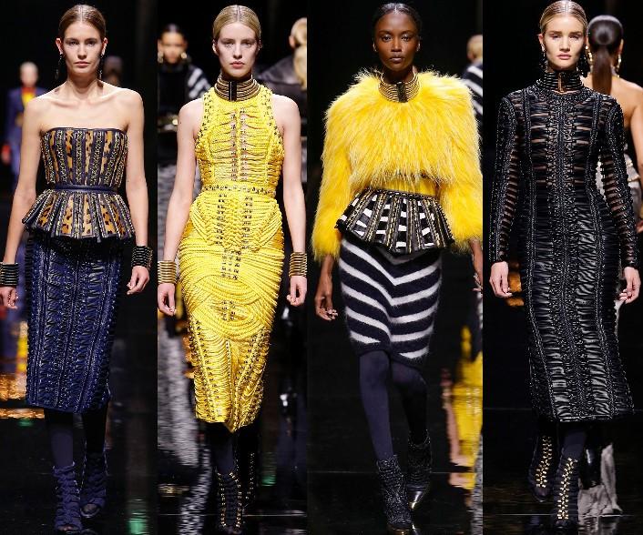 balmain fall 2014 rtw, paris fashion week