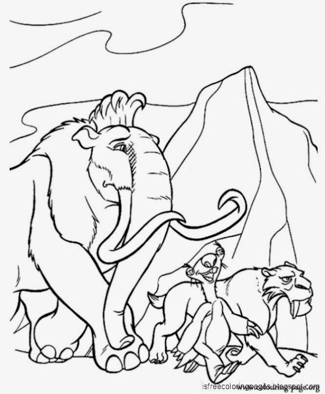 Attractive Ice Age 3 Coloring Pages Crest Coloring Page Ideas