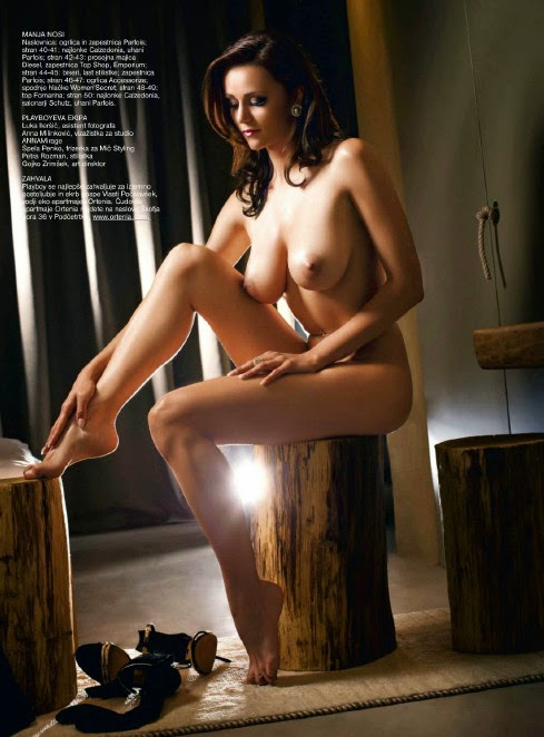 beautiful sexy Manja Dobrilovic nude for Playboy Slovenia pic 9