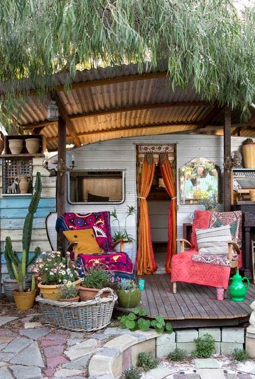 En mi espacio vital muebles recuperados y decoraci n for Rv outdoor decorating ideas