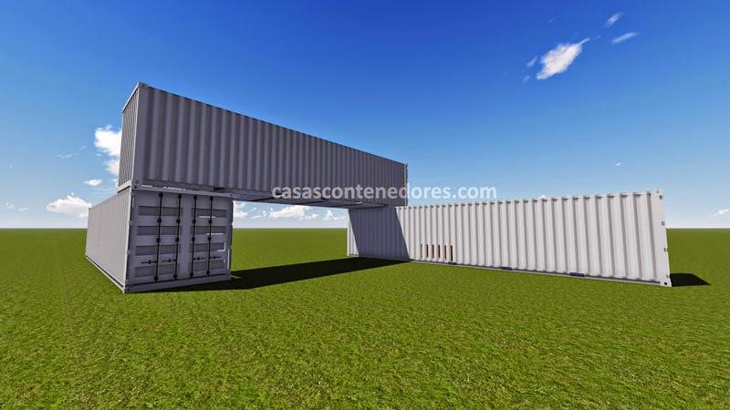 Casas contenedores dise o de casa con 3 containers de 40 pies - Diseno de contenedores ...