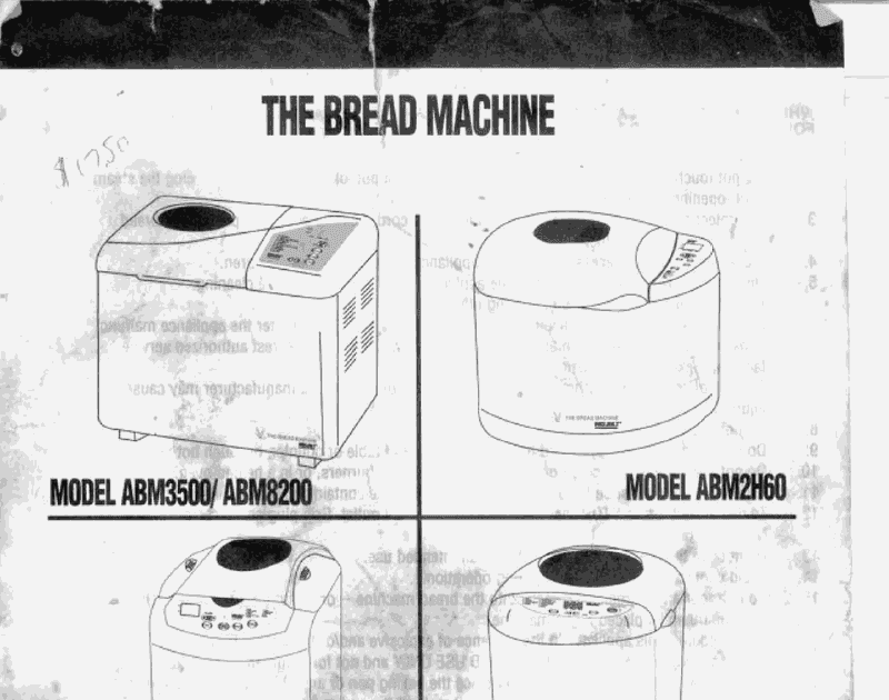 bread machine manual