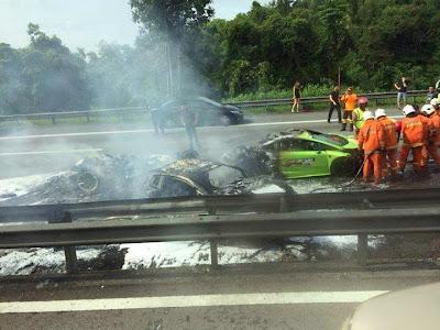 Lamborghini Hangus Sudah