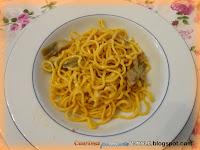 Spaghetti alla chitarra con carciofi