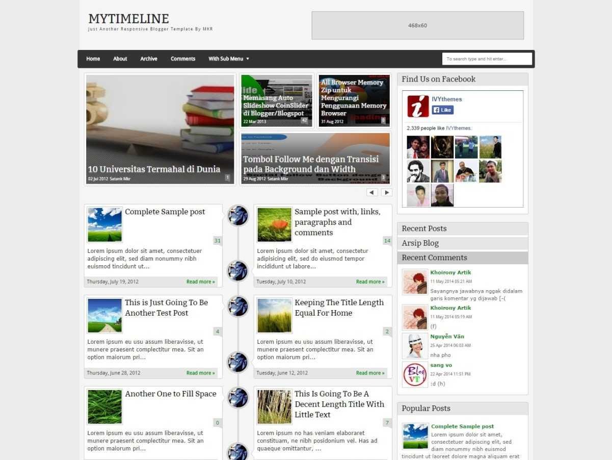 MyTimeLine Responsive Blogger Template By MKR Blogr Templates - Timeline blogger template
