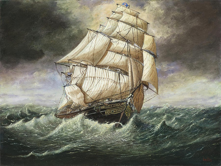 Painting of The Clipper Ship