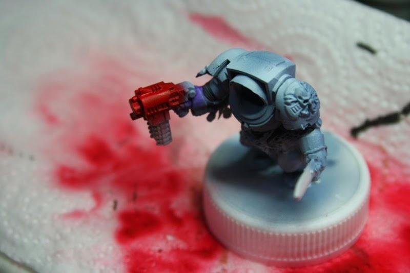Pintura del bolter de asalto del exterminador