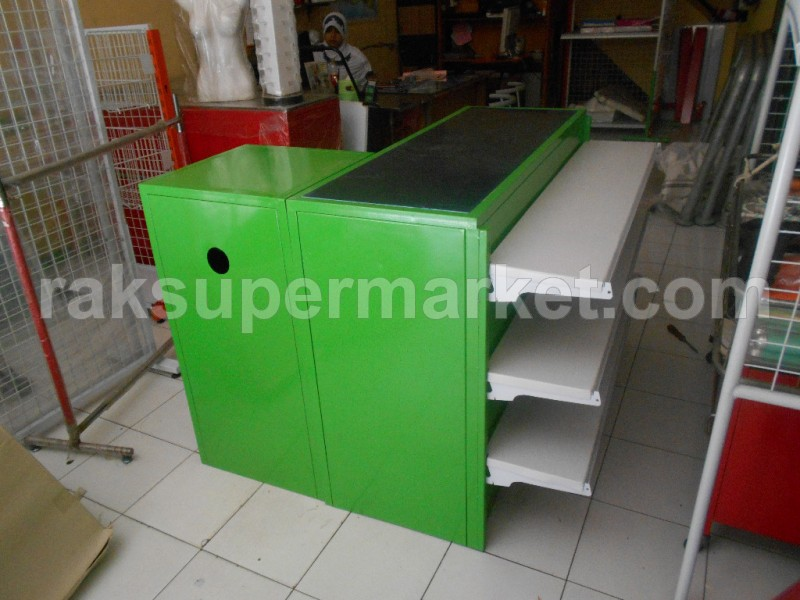 Meja Kasir New Plus Shelving