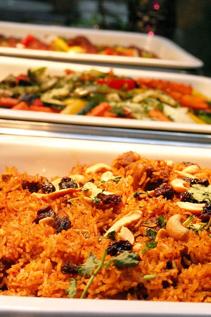 lamb biryani Arabian Delights Buffet at Diamond Hotel's Corniche