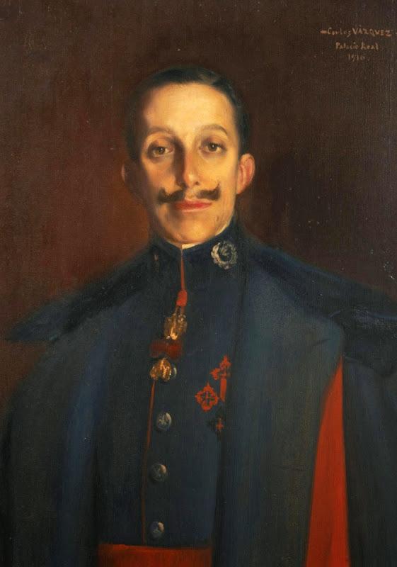 Carlos Váquez Úbeda, Alfonso XIII, retrato