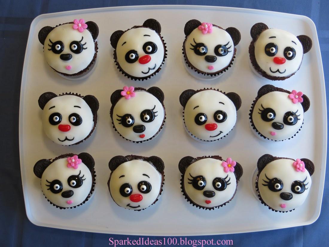 Sparked Ideas Panda Cupcake Tutorial