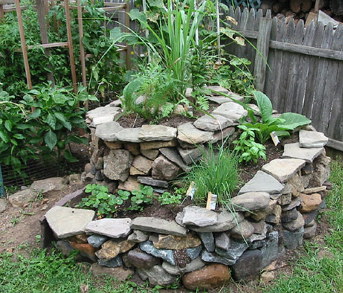 Temperate climate permaculture permaculture projects for Rock garden bed ideas