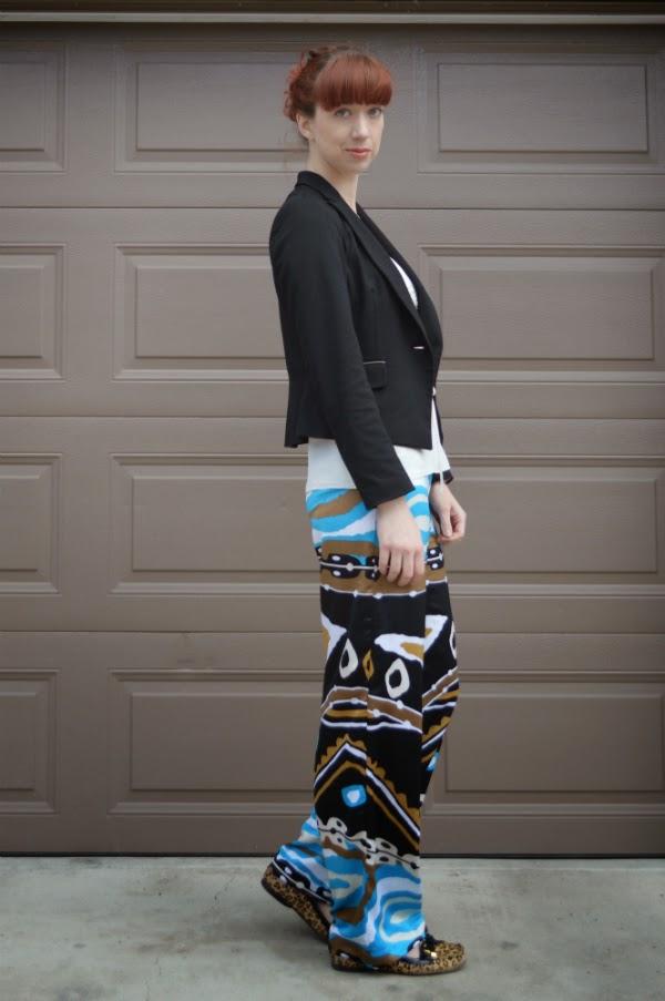 printed pants, selfmade
