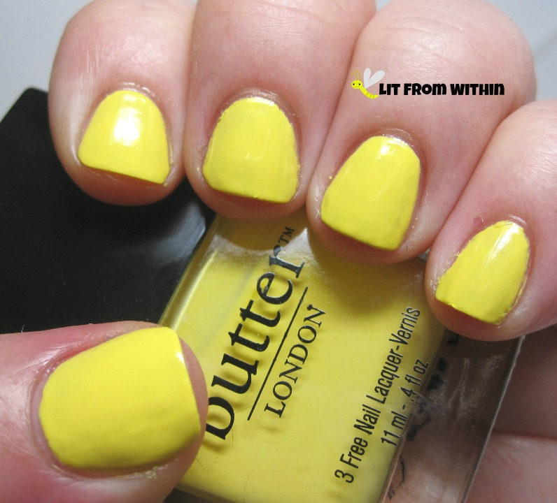 the sunflower yellow that is Butter London Cheeky Chops