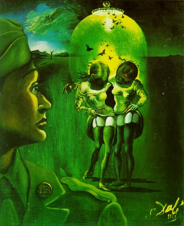 Salvador Dalí, Soldier take Warning, 1942 campaign against veneral diseases