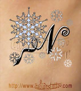 fiocchi di neve lettera N