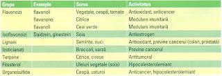 Actiunea biologica a principalilor compusi fitochimici
