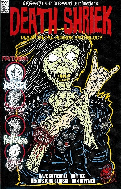 DEATH SHRIEK Vol. 1 Death Metal Comic