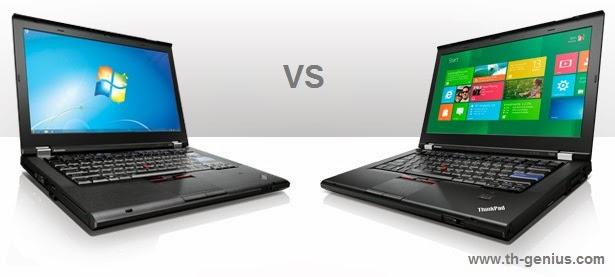 difference,Windows7,Windows8