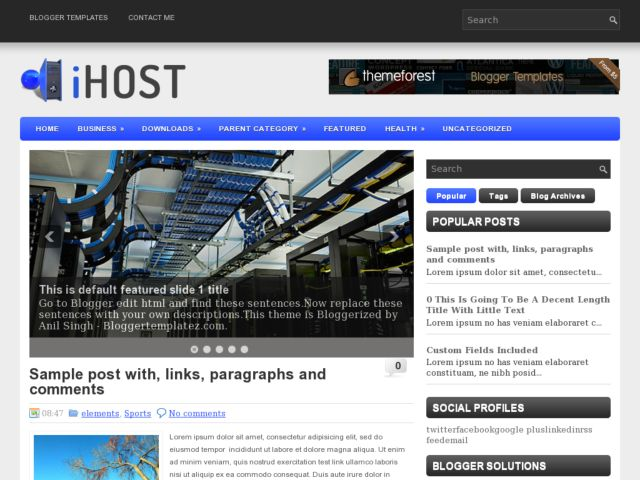 Plytag Blogger Template