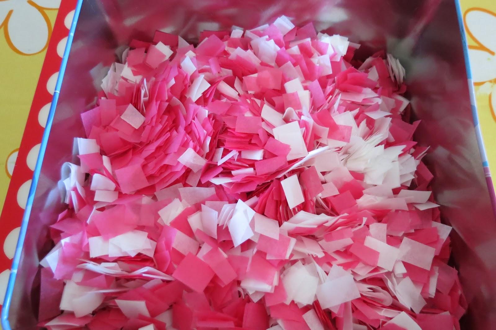 El taller de flory pondy confeti para boda for Como hacer confeti