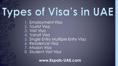 TYPES OF VISA IN UAE