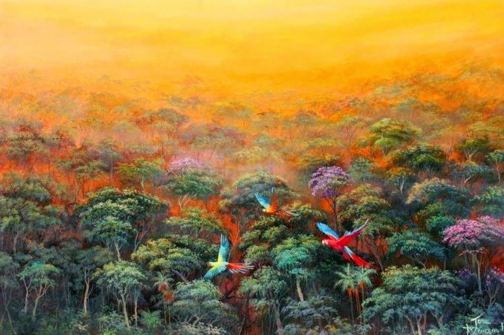 Cuadros modernos pinturas y dibujos oleos de paisajes for Cuadros de decoracion baratos