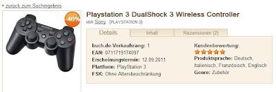 Playstation 3 DualShock 3 Wireless Controller bei buch.de für 29,95 Euro